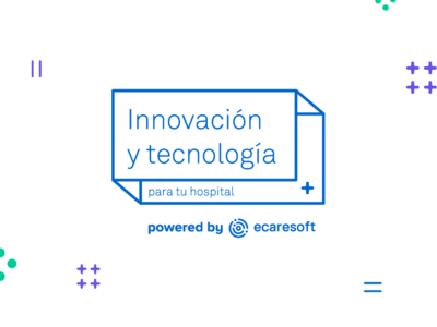 Innovación y tecnología healthcare app health care event branding tech logo