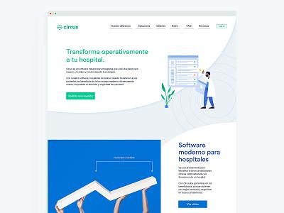 Cirrus Homepage website design website webpage web design webdesign web landingpage landing healthcare ehr