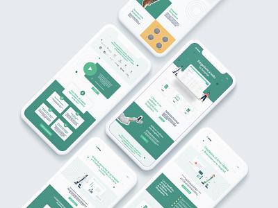 Cirrus Brand Behavior: Website hospital erp ehr illustration website concept website ecaresoft cirrus healthcare tech website design