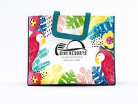 Shopping Bag Art - Parrots