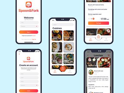 Spoon&Fork - Food delivery app design app design
