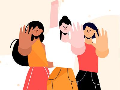 stop gender violence stop gender violence gender gender equality women empowerment women people illustration lifestyle vector illustration character illustration