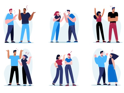 couple conflicts concept couple conflicts couples people vector people illustration lifestyle vector illustration character illustration