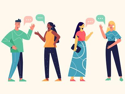 People Talking talking people people illustration vector illustration lifestyle character illustration