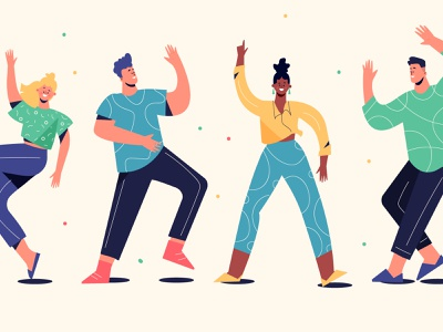People Dancing 2 dancing people people illustration vector illustration lifestyle character illustration