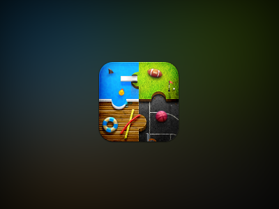 Candlejack: Game Center icon ios iphone retina winterboard theme game center pool basketball