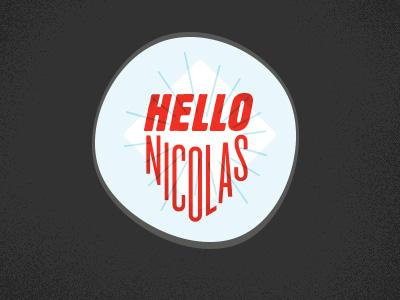 Hellonicolas Logo v3 - WIP! logo personal type