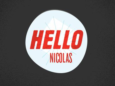 Hellonicolas Logo v4 - WIP! logo personal type