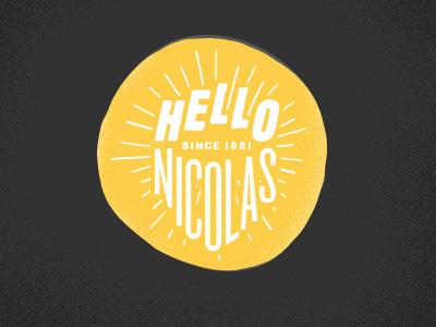 Hellonicolas Logo v5 - WIP! logo personal type