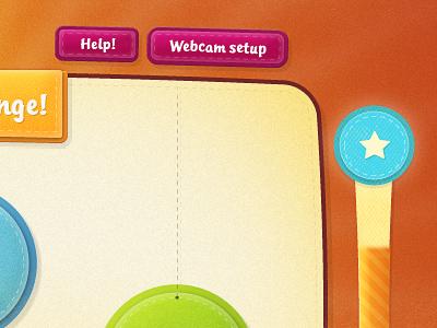 Fun UI (work-in-progress!) children game fun colorful