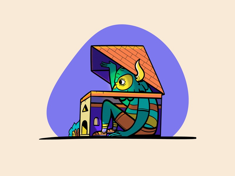 Stay at home home quarantine covid19 adobe illustrator happy illustration colorful character vector character design