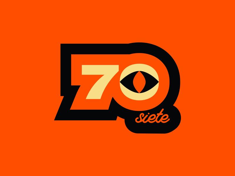 70-Siete Logo Proposal colorful logotypes vector orange halloween color logotype logo branding design brand branding
