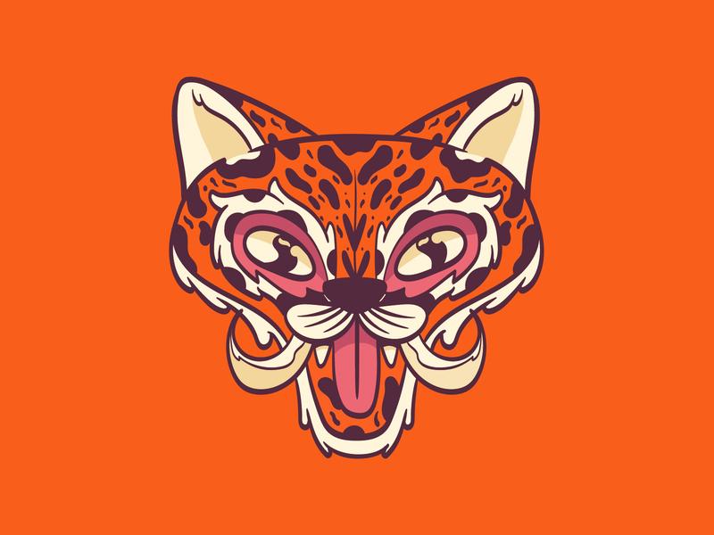 Tiger Mask digital illustration colorful adobe illustrator character design animal tiger mask illustration