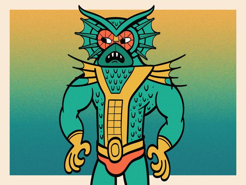 Mer-Man motu 6fanart challenge mixed media color adobe illustrator illustration character design character colorful vector fanart