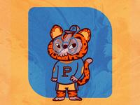School Mascot character design characters college illustration cat feline leopard tiger pet character mascot school