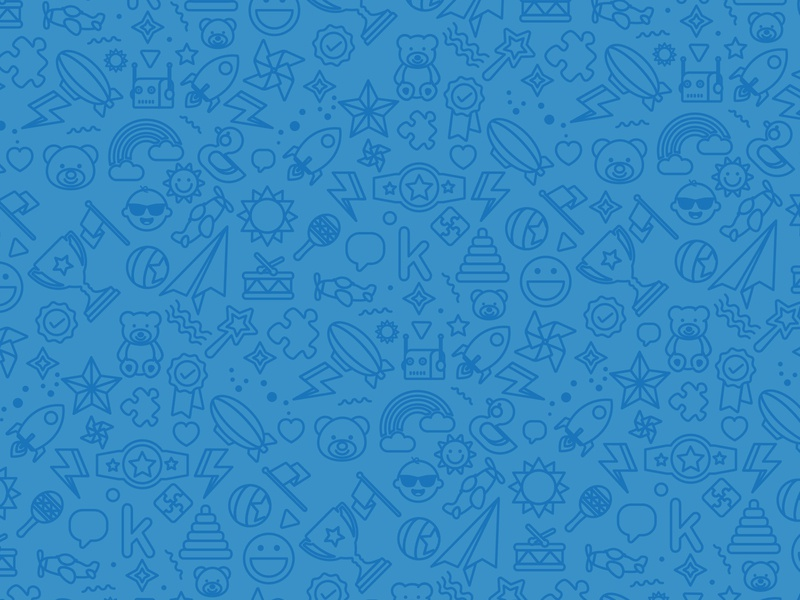 Kinedu Pattern happy children vector blue branding pattern illustration
