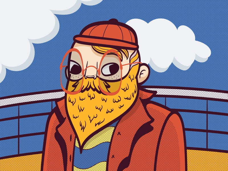 Sailor colorful adobe illustrator illustration color comic pattern character design vector portrait