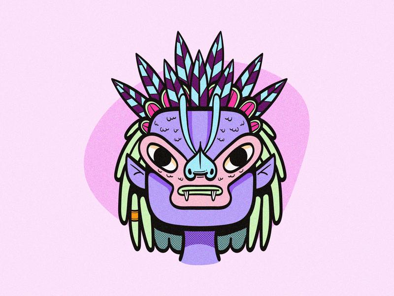 Alien Warrior happy adobe illustrator illustration character design pastels colorful vector illustration character vector