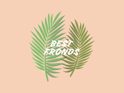 Best Fronds besties illustration fun fronds