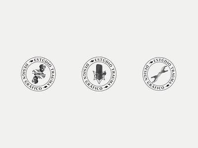Personal Branding Studio | Trauma outline badge illustration vector logo espiritosanto design grids graphicdesign
