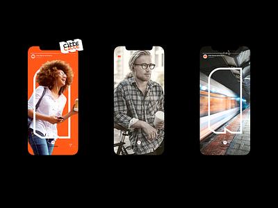 Citte - Stories Instagram smartcities concept design concept clean ceara brand branding