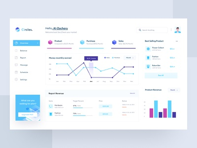 E-commerce Product Dashboard website graphic design report store sales dashboard sales e-commerce chart statistic simple trend light blue dashboard ui clean product