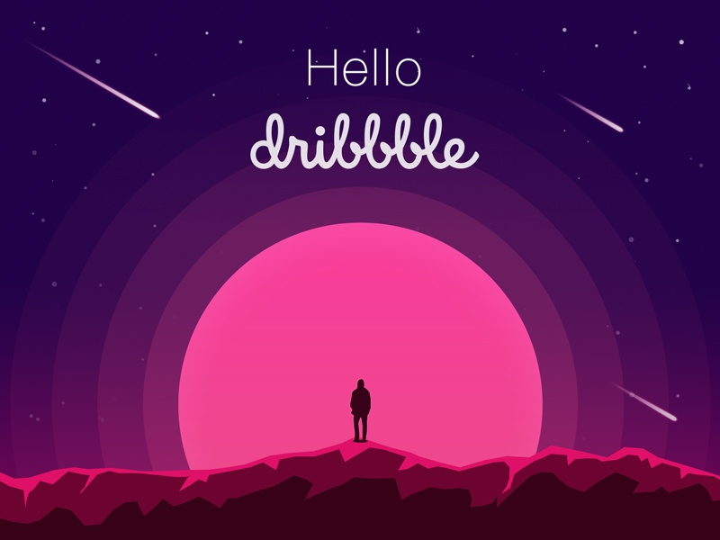 Hello Dribbble stars hellodribbble debut