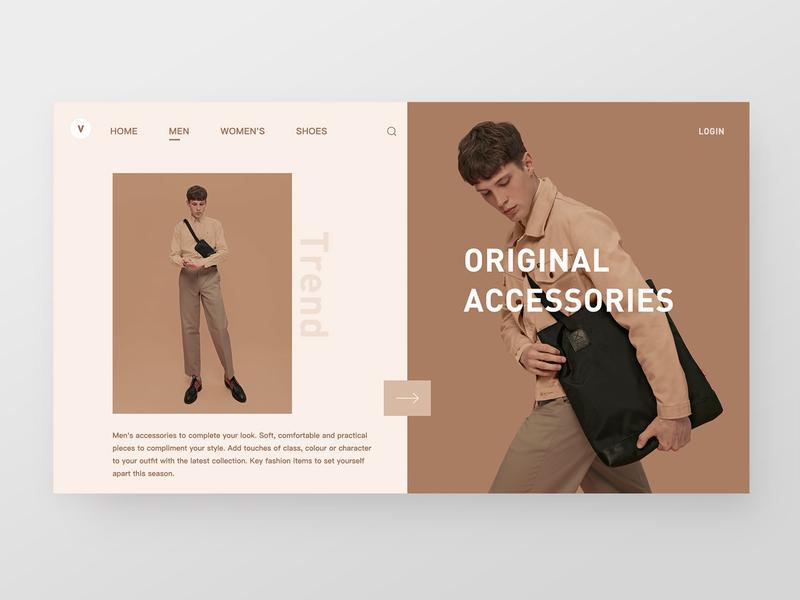 Ecommerce Website ux ui ecommerce brand homepage web design