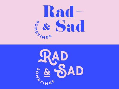 The Feels minimal flat feelings mood tshirt design stickers brand ampersand type typography