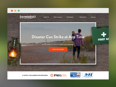 BeReadyLI Homepage Concept #2 texture homepage ui web design