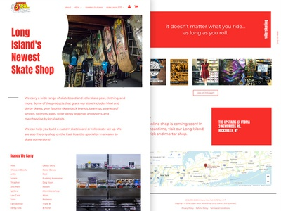 Skateshop Site bold monochromatic monochrome classic skate shop wordpress layout white red design website web
