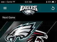 Philadelphia Eagles App Concept
