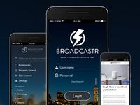Broadcastr App Screens