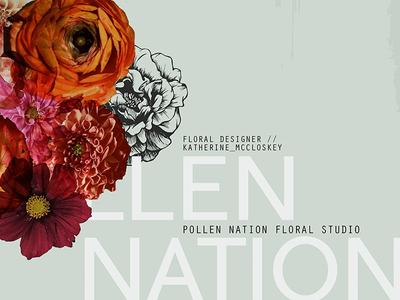 Pollen Nation Branding graphic design typography