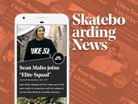 Sk8 News Dribbble