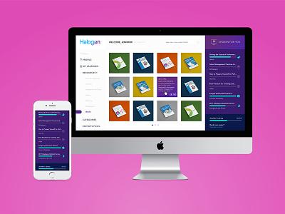 Halogen Ebooks mobile web design portal ebooks saas ottawa