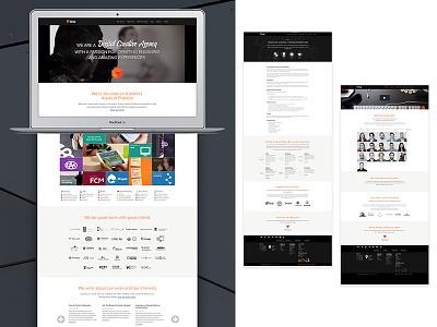 Digital Agency Site Design website digital modern minimal dark responsive web design ui