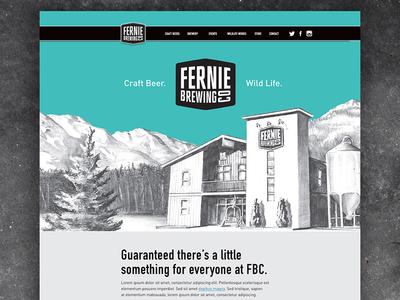 Fernie Brew Co. 1 huge ui canada beer homepage website web design