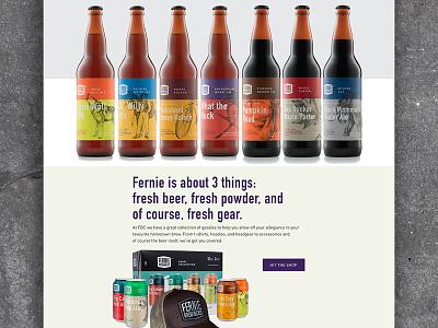 Fernie Brew Co. 2 huge ui canada beer homepage website web design