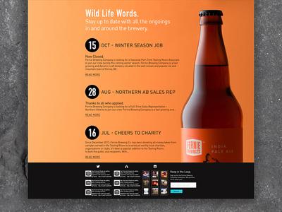 Fernie Brew Co. 3 huge ui canada beer homepage website web design