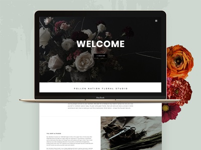 Pollen Nation homepage 1 flat design ui canada floral homepage website web design
