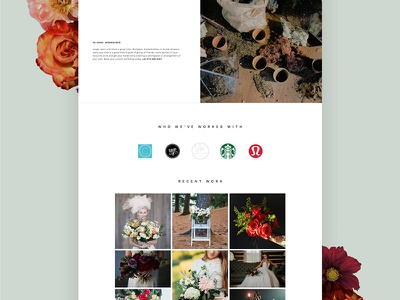 Pollen Nation homepage 2 flat design ui canada floral homepage website web design