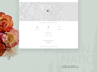 Pollen Nation homepage 3 flat design ui canada floral homepage website web design