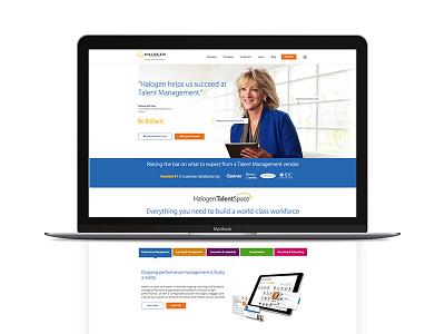 Halogen homepage 1 software ottawa ui canada saas homepage website web design