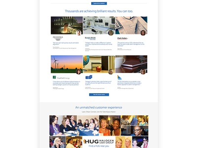 Halogen homepage 2 software ottawa ui canada saas homepage website web design