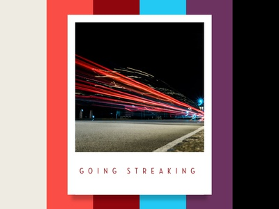 Colour Inspiration #6 design inspiration streak lights urban car night colour color