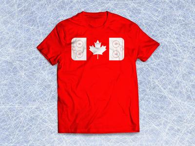 Canada's pastime canadian flag canada hockey