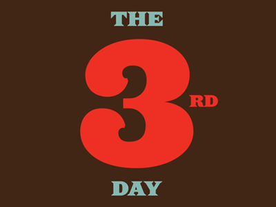 The 3rd Day design typography