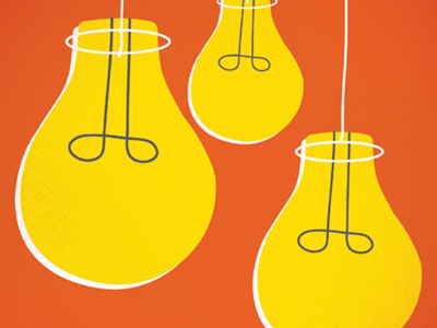 Lightbulbs illustration design