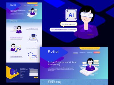 Landing Page Chatbot Evita